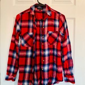 Topshop plaid check shirt